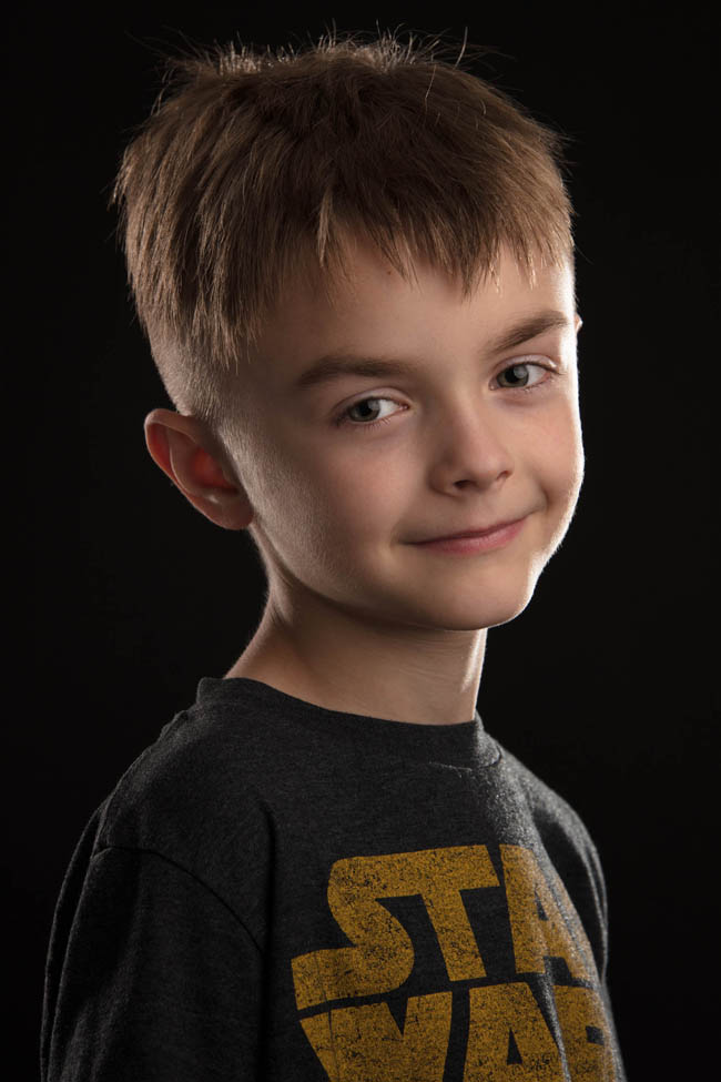 medford photography studio portrait boy with blonde hair